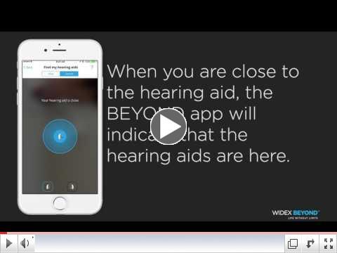 BEYOND App Find My Hearing Aids Program