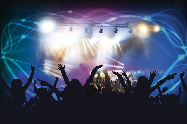 Loud concert that could damage your hearing